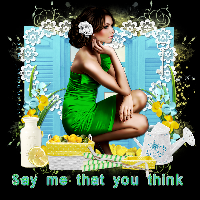 say me that you think