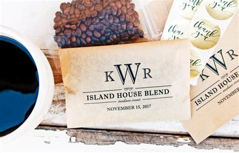 Personalized Wedding Coffee Favors   Emmaline Bride