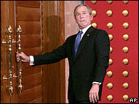 George W Bush in Beijing