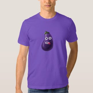 Funny Cartoon Eggplant Dark T Shirt