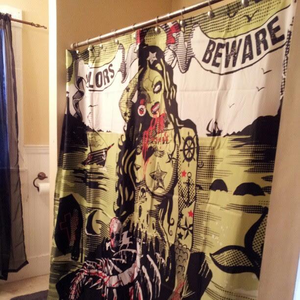 my new shower curtain #sailorsbeware #halloweeneveryday ...