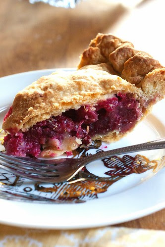 Fresh Cranberry Pie with Marzipan | The Domestic Front