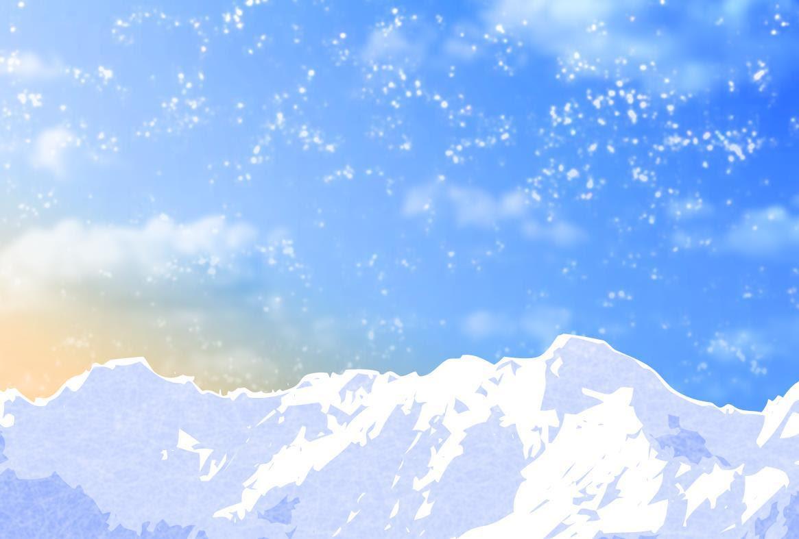 雪山イラスト年賀状背景素材見本kmsys午年賀状イラスト素材集