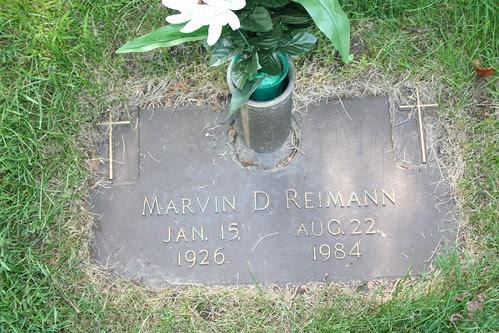 Tombstone of Marvin Reimann