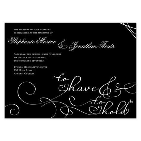 To Have and To Hold Wedding Invitations   PaperStyle