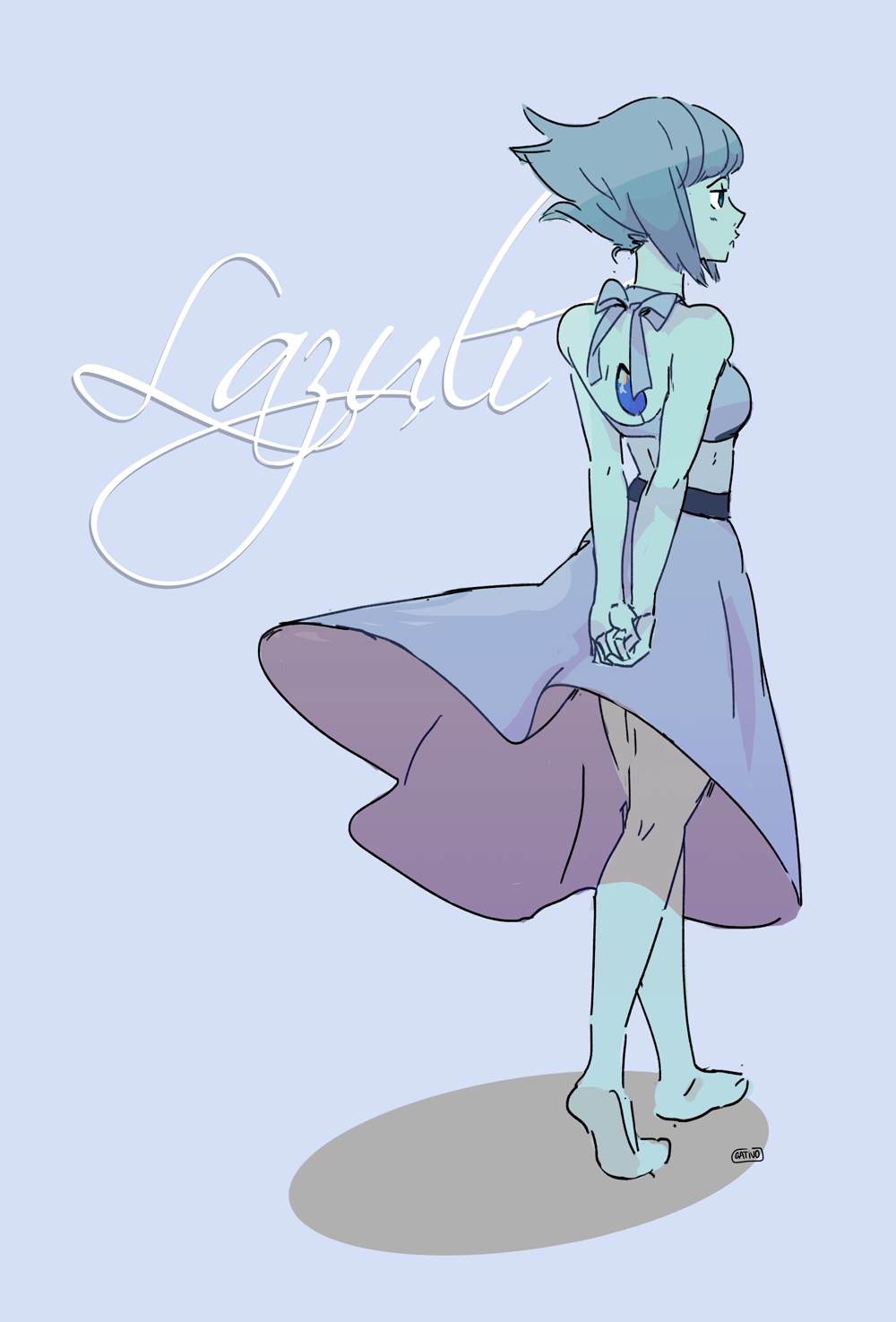 feel like drawing Lapis (and Steven)
