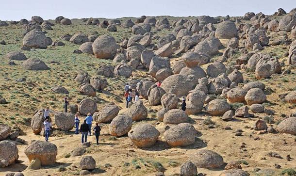 Concretions in Western Kazakhstan.