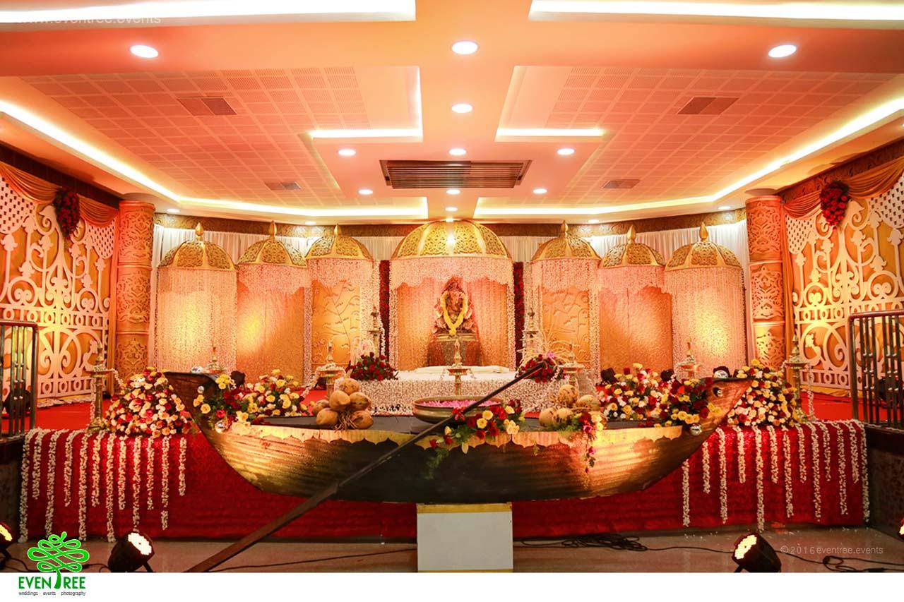 Desain Pernikahan Kerala Hindu Wedding Stage Decorations