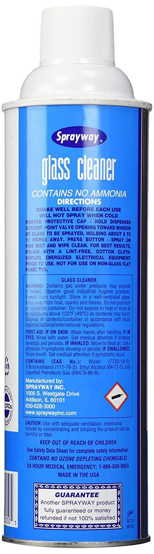 Amazon.com: Sprayway Glass Cleaner Aerosol Spray, 19 oz: Health ...