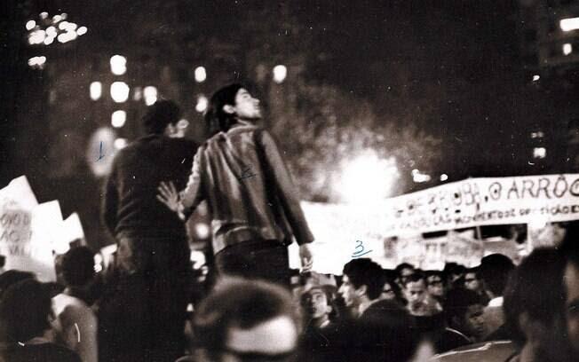 O movimento estudantil foi responsável por muitas ações de protesto em oposição ao regime militar. Foto: Arquivo Brasil Nunca Mais