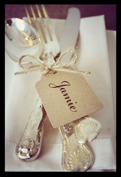 Details about 12 Wedding Place Cards   Personalised Shabby