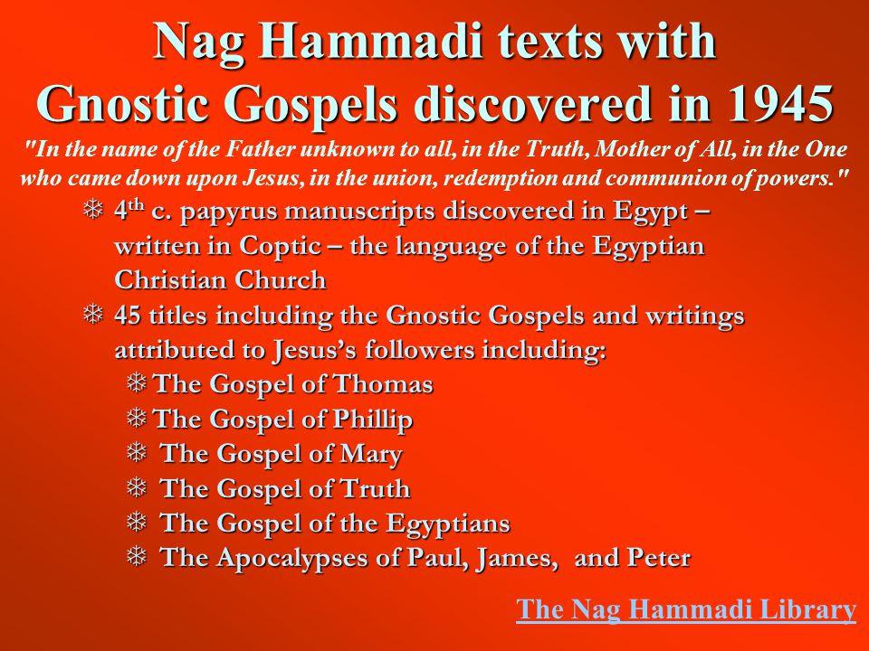 Risultati immagini per gnostic gospels