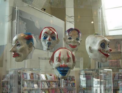 The Dark Knight movie costumes - Clown msks