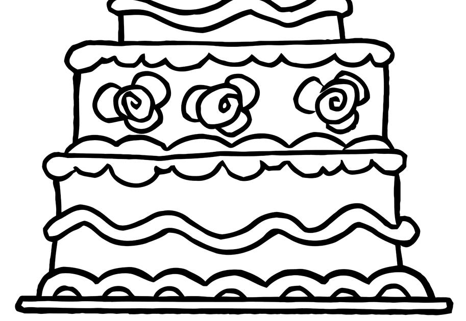 mewarna08 kleurplaat taart 1 jaar