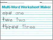 Amazing Handwriting Worksheet Maker