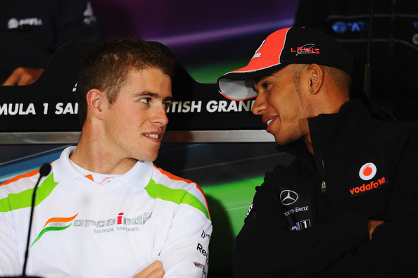 Paul Di Resta and Lewis Hamilton - F1 Grand Prix of Great Britain - Previews