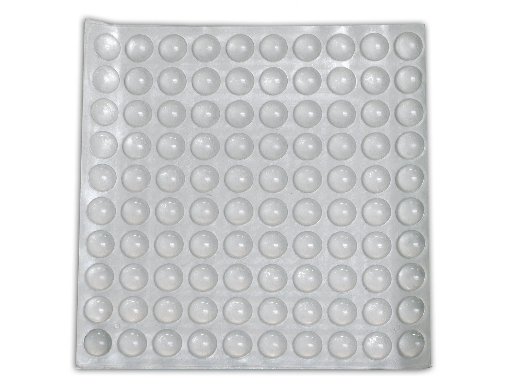 100 3/8 Round Rubber Bumpers Clear Surface Protector Pad ...