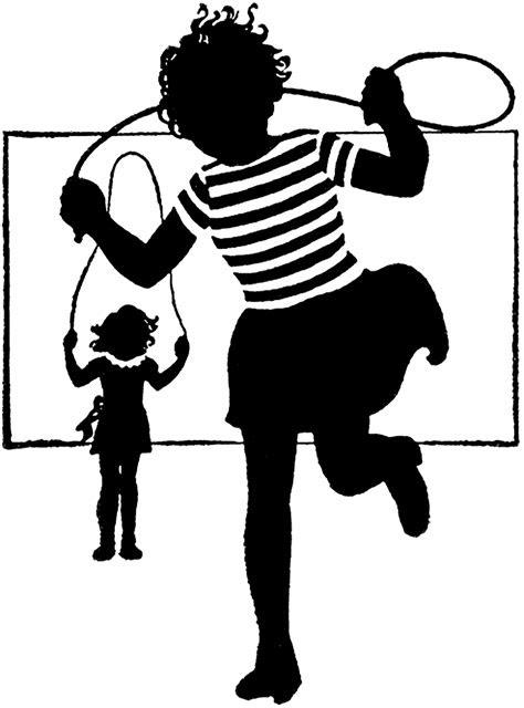 Retro Jump Rope Image - The Graphics Fairy