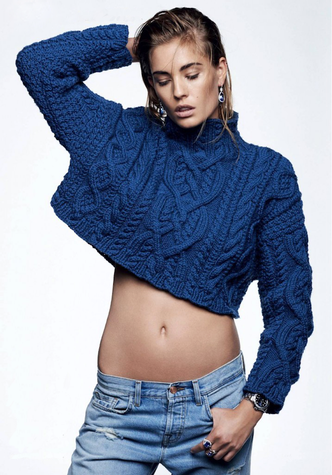 Le Fashion Blog Nadja Bender Blue On Blue Look Vogue Russia Cropped Cable Knit Sweater Jeans Silver Watch photo Le-Fashion-Blog-Nadja-Bender-Blue-On-Blue-Look-Vogue-Russia-Cropped-Cable-Knit-Sweater-Jeans-Silver-Watch.png