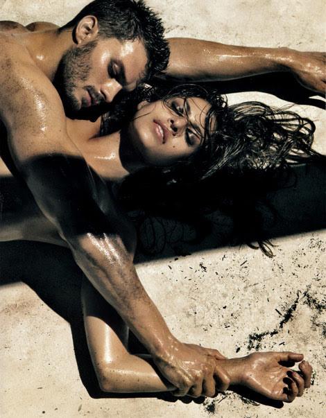 Eva Mendes Jamie Dornan CK Jeans Summer 2010 ad campaign