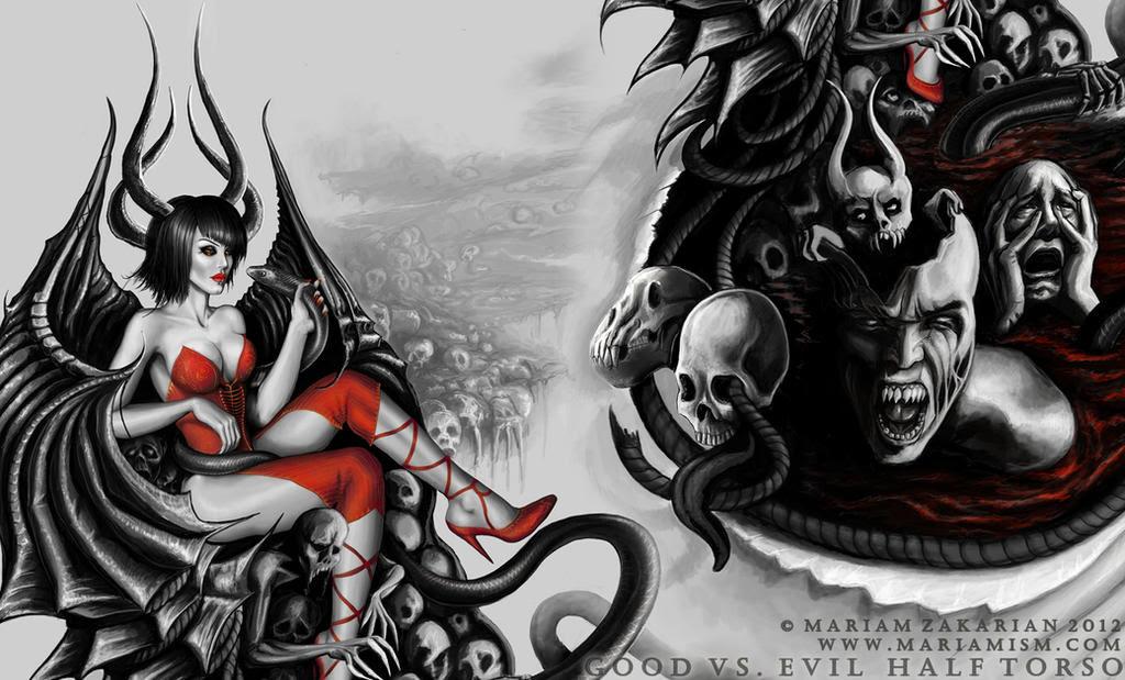 Syella Learn Good Vs Evil Tattoo Design