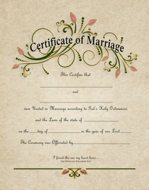 """WC 108 11x14    """"CERTIFICATE OF MARRIAGE"""" Do you have an"""