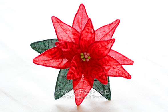 Fabric Poinsettia Diy Tutorial Christmas Craft Passion