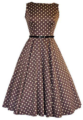 details  lady vintage audrey hepburn dress mocha