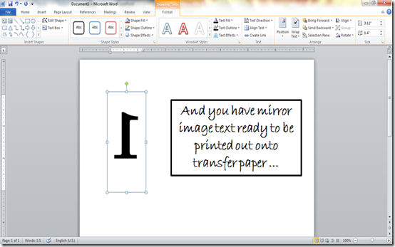How To Make Mirror Image Text In Word At It All Started With Paint