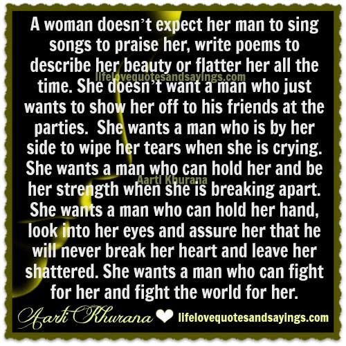 What A Woman Expects From Her Man