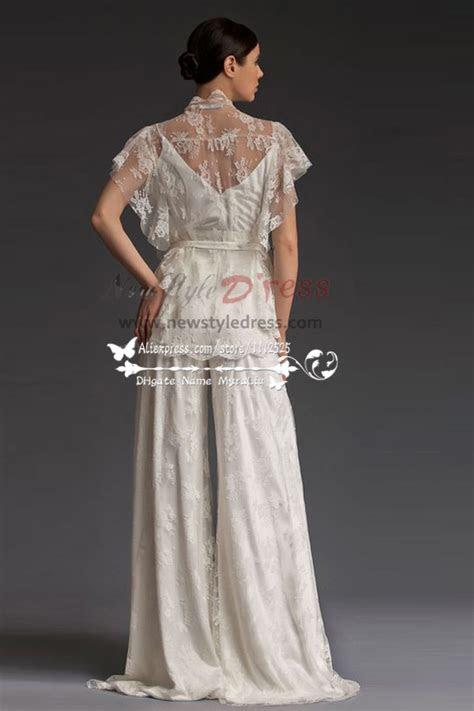 elegant lace wedding pants dresses floor length spring wps