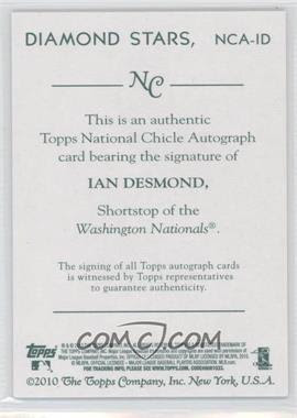 2010 Topps National Chicle Autographs #ID - Ian Desmond A - Courtesy of COMC.com