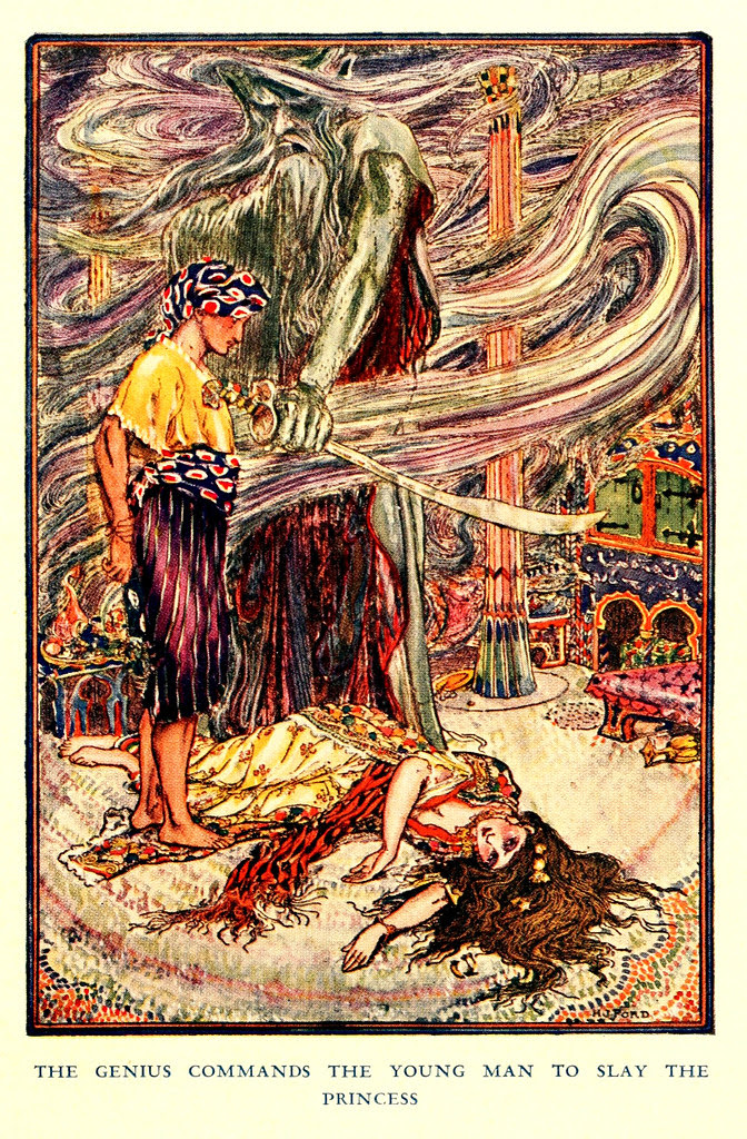 Henry Justice Ford - The Arabian nights entertainments selected and edited by Andrew Lang, 1898 (color plate 1)
