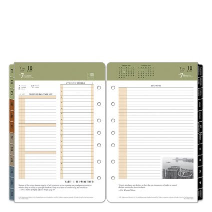Classic 7 Habits Daily Ring-bound Planner - Jan 2017 - Dec 2017 ...