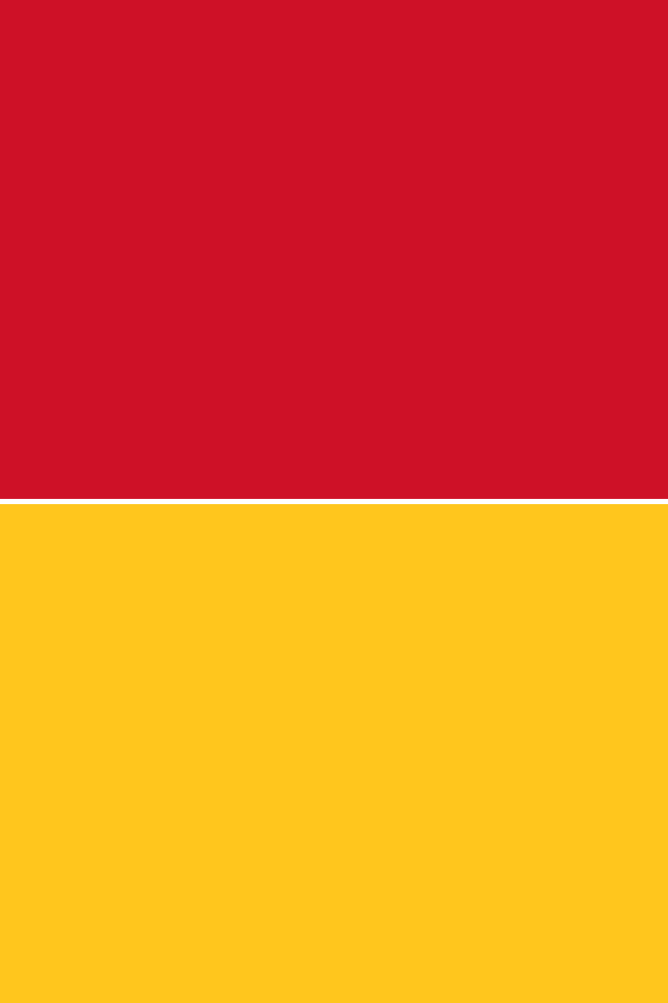 Red Over Yellow Flag