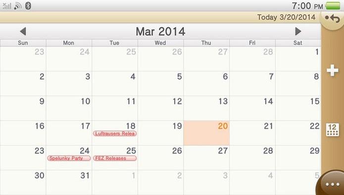 Aplicativo de calendário pode ser útil para dividir eventos com amigos da PSN ou datas de lançamento de jogos (Foto: PlayStation Blog)