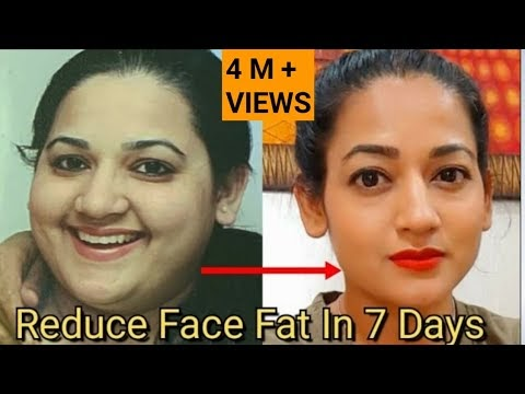 How To Reduce Face Fat In 7 Days | No More DOUBLE CHIN,