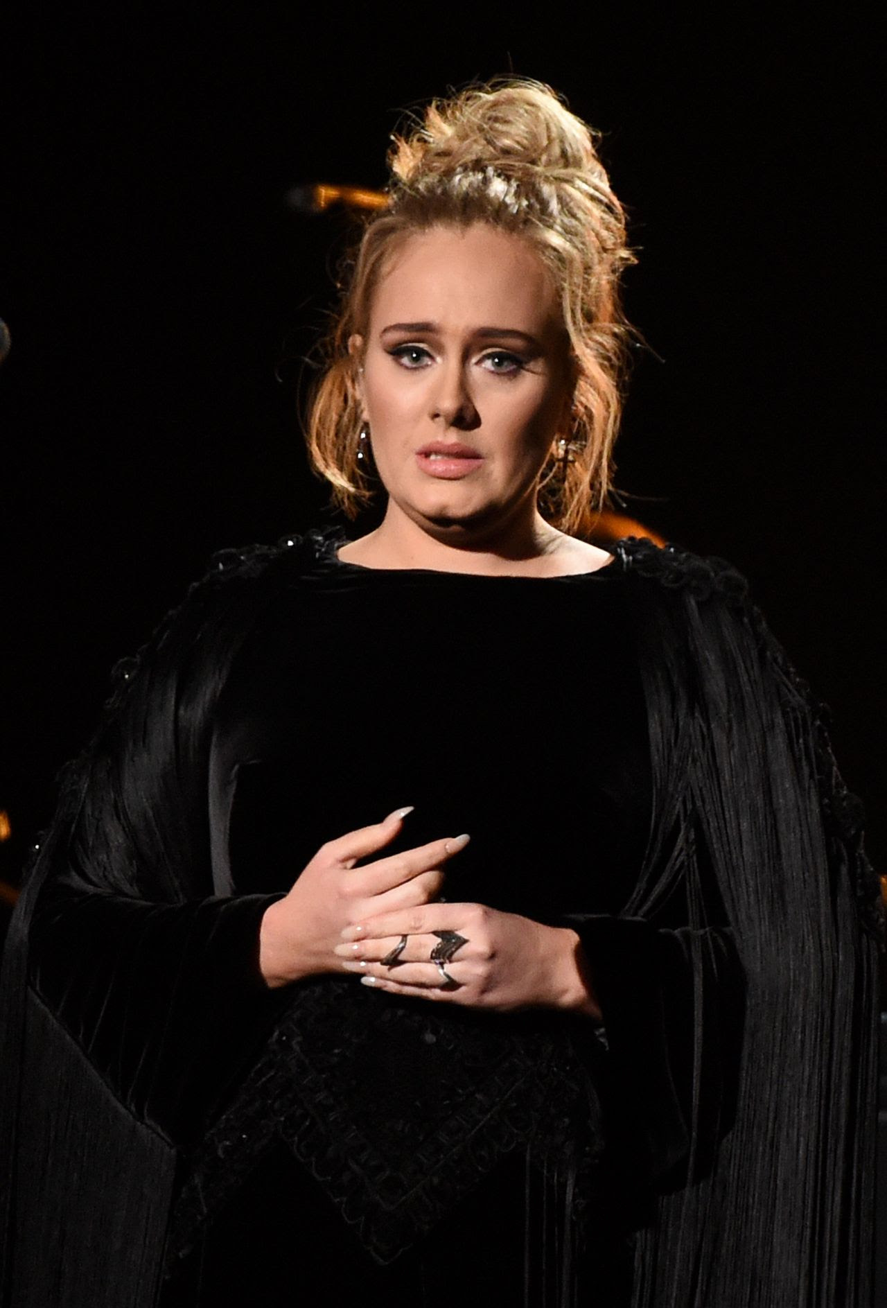 Adele Performs at 59th Annual GRAMMY Awards in Los Angeles ...