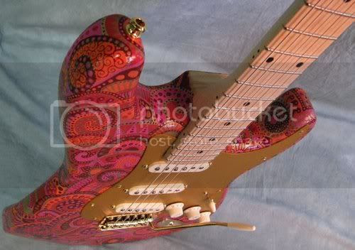 Hand-painted Strat