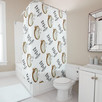 Sow The Seed Of Success Dicotyledon Bean Seed Shower Curtain