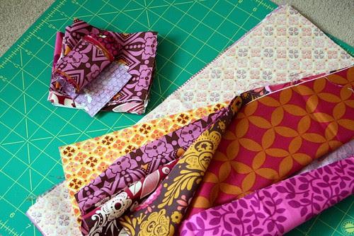 Precious fabrics cut into!