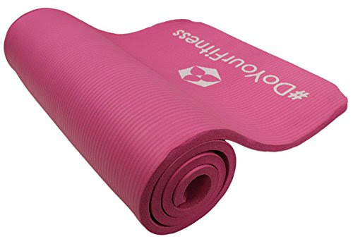 #DoYourFitness Exercise mat »Yamuna« /EXTRA THICK (1,5 cm!) & SOFT, High-Density gymnastics mat. Ideal mat for Yoga, Pilates, Gym. Size: 183 x 61 x 1,5cm, pink