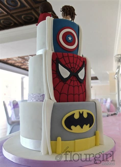 Secret Superhero Wedding Cake. What a terrific idea