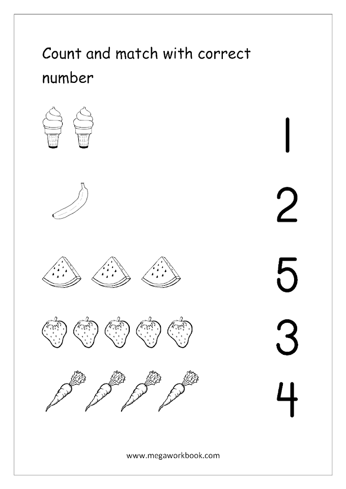 Math Worksheets Counting 1 5