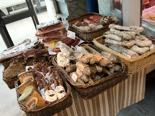 Charcuterie at the Market in Villeneuve