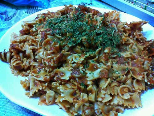 Pasta for our christma merienda cooked by lace by popazrael