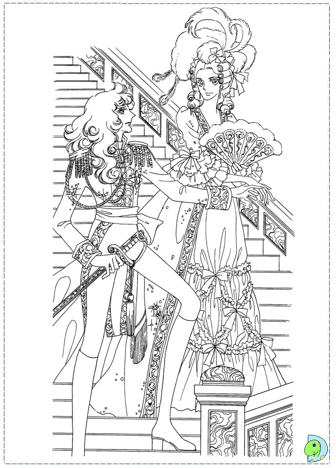 Lady_Oscar coloring_pages 06