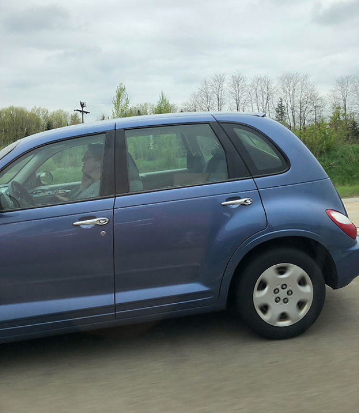 75-80mph, Holding A Plate With A Fork And Knife And Talking On The Phone
