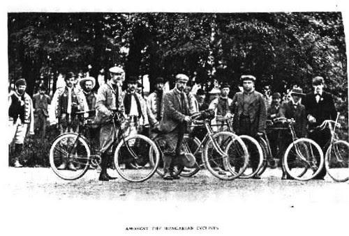 Bike traveler 1900, in Hungary