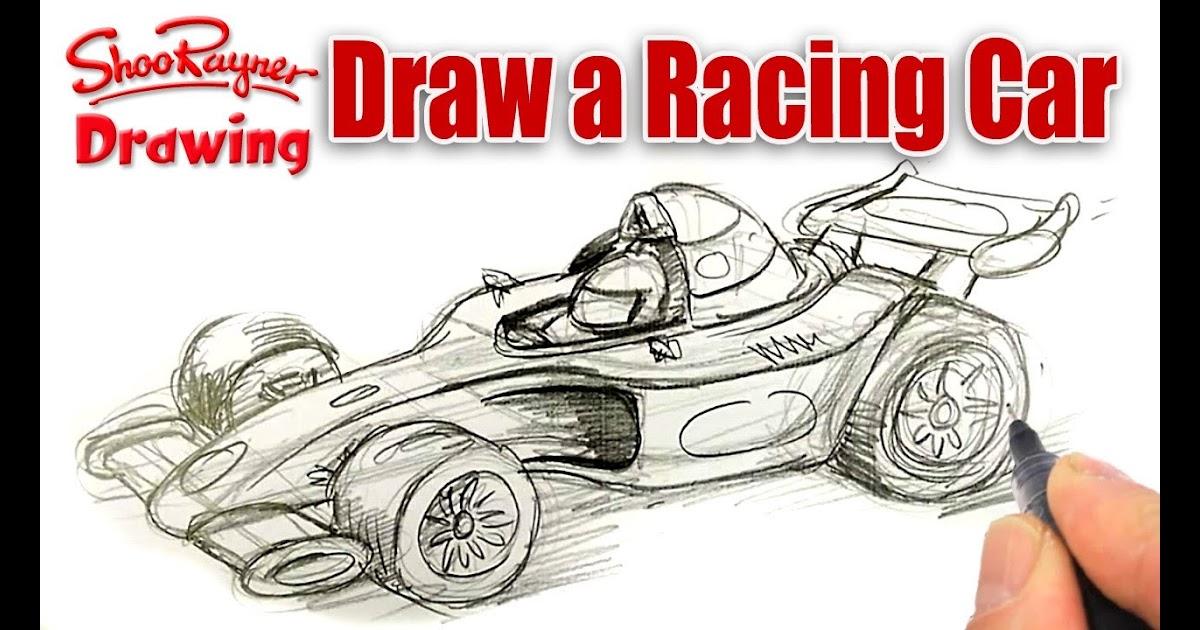 F1 Drawing Racing Car